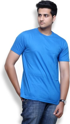 Furious Active Solid Men's Round Neck Blue T-Shirt
