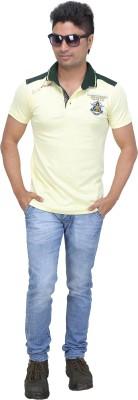 AFLASH Printed Men's Polo Yellow T-Shirt
