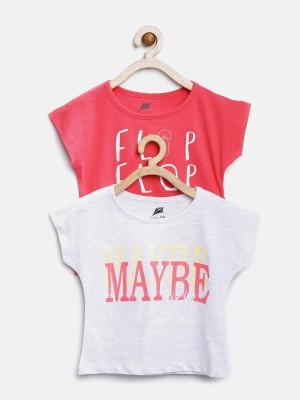 YK Printed Girl's Round Neck T-Shirt