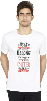 Funatic Sports Printed Men's Round Neck White T-Shirt