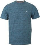 Wildcraft Woven Men's Round Neck Blue T-...