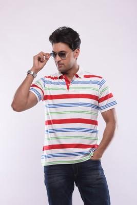 SHAYAN EXPORT Solid Men's Flap Collar Neck Multicolor T-Shirt
