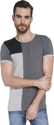 Globus Solid Men's Round Neck Grey T-Shirt