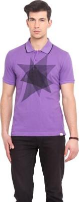 Smokestack Printed Men's Polo Purple T-Shirt