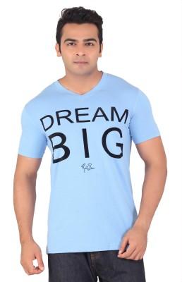 Radbone Printed Men's V-neck Light Blue T-Shirt