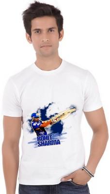ShopMantra Graphic Print Men,s Round Neck White T-Shirt