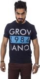 Groviano Printed Men's Round Neck Blue T...