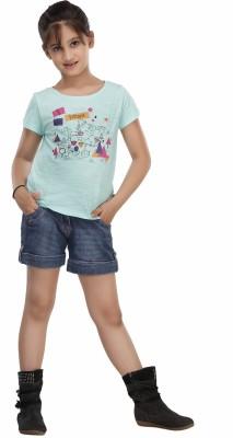 Trmpi Graphic Print Girl's Round Neck T-Shirt