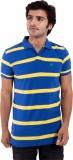 Dossil Striped Men's Flap Collar Neck Bl...
