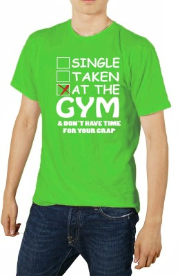 FRENEMY Printed Men's Round Neck Light Green T-Shirt