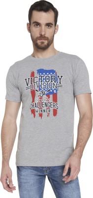 Globus Printed Men's Round Neck Grey T-Shirt