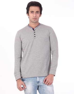 Rugby Solid Men's Henley Grey T-Shirt