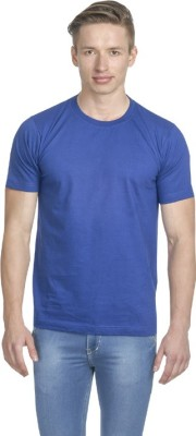 Fundoo-T Solid Men's Round Neck Blue T-Shirt