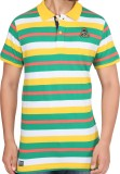 Stoke Striped Men's Polo Neck Multicolor...