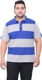 John Pride Striped Men's Polo Neck Blue,...