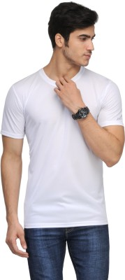 Rico Sordi Solid Men's Round Neck White T-Shirt