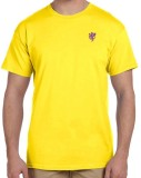 1OhOne Solid Men's Round Neck Yellow T-S...