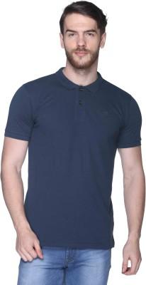 Club York Solid Men,s Polo Blue T-Shirt