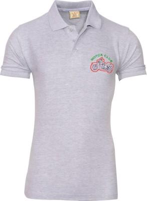 Libra Fashions Solid Men's Polo Neck Grey T-Shirt