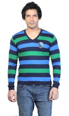 Core Striped Men's V-neck Multicolor T-Shirt