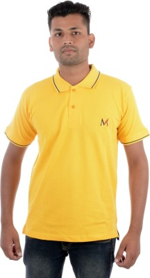 Moladz Solid Men's Polo Gold T-Shirt