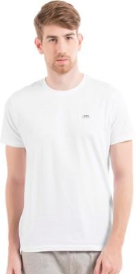 Izod Solid Men's Round Neck White T-Shirt