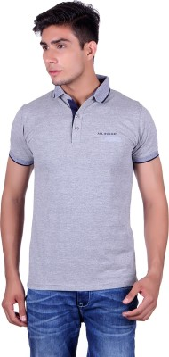All Ruggby Printed Men's Polo Neck Grey T-Shirt