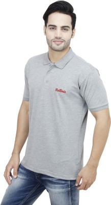 Rollinia Solid Men's Polo Grey T-Shirt