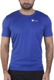 Tego Solid Men's Round Neck Blue T-Shirt