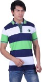 Jayis Striped Men's Polo Neck Green T-Sh...