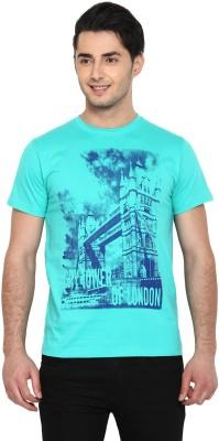 PUT IN Printed Men's Round Neck Green T-Shirt