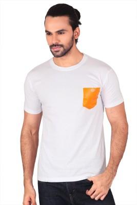 Anger Beast Solid Men's Round Neck White T-Shirt