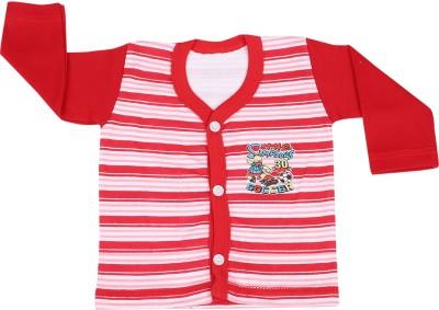 Rishan Printed Baby Boy's V-neck Red T-Shirt