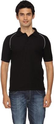 Scottish Solid Men's Polo Black, White T-Shirt