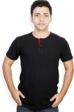 Evermore Stores Solid Men's Henley Black...