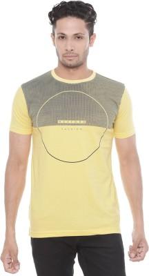 Wexford Printed Men's Round Neck Yellow T-Shirt