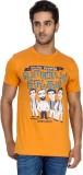 Tee Kadai Printed Men's Round Neck Orang...