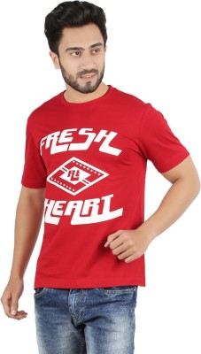 CHECKERSBAY Printed Men's Round Neck Red T-Shirt