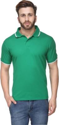 Scott International Solid Men's Polo Green T-Shirt