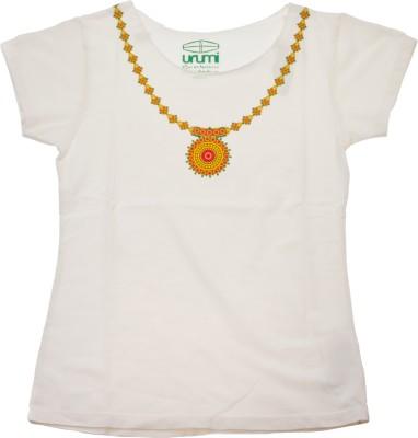 Urumi Graphic Print Women,s Round Neck Multicolor T-Shirt
