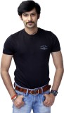 Rough Ride Solid Men's Round Neck Black ...