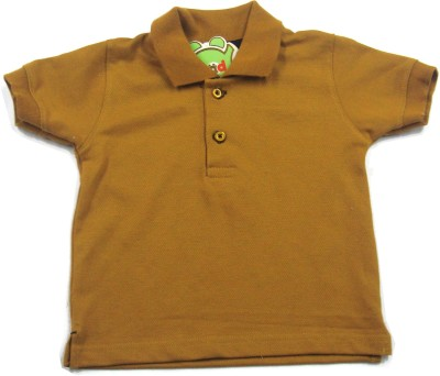 Ahad Solid Baby Boy's Polo Brown T-Shirt