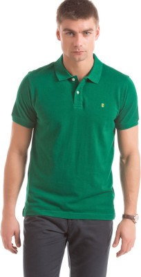 Izod Solid Men's Polo Neck Green T-Shirt