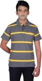 Cute Collection Striped Men's Polo Neck ...