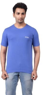 Regnum Solid Men's Round Neck Purple T-Shirt