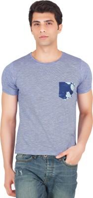 Webmachinez Solid Men's Round Neck Light Blue T-Shirt