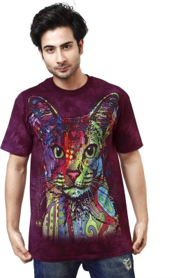 The Mountain Printed Men's Round Neck Multicolor T-Shirt