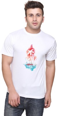 Oh Fish Graphic Print Men's Round Neck White T-Shirt