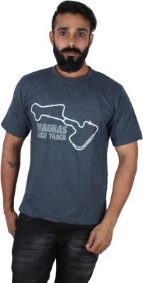 Pickled Merchandise Graphic Print Men's Round Neck Grey T-Shirt