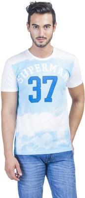 Superman Printed Men's Round Neck White T-Shirt